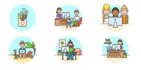 landing illustrations svg