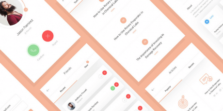 mobile ui kit social app