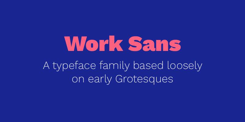 Work Sans Font (Helvetica Alternative)   Bypeople