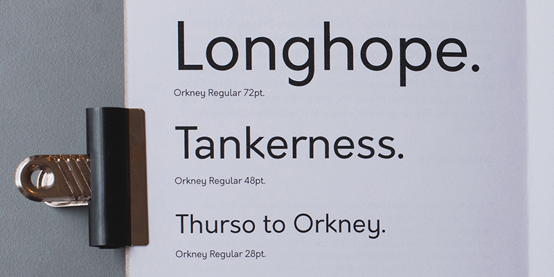 Orkney: Geometric Sans Serif Typeface | Bypeople