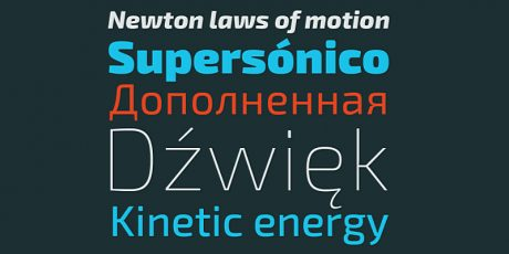 modern looking typeface