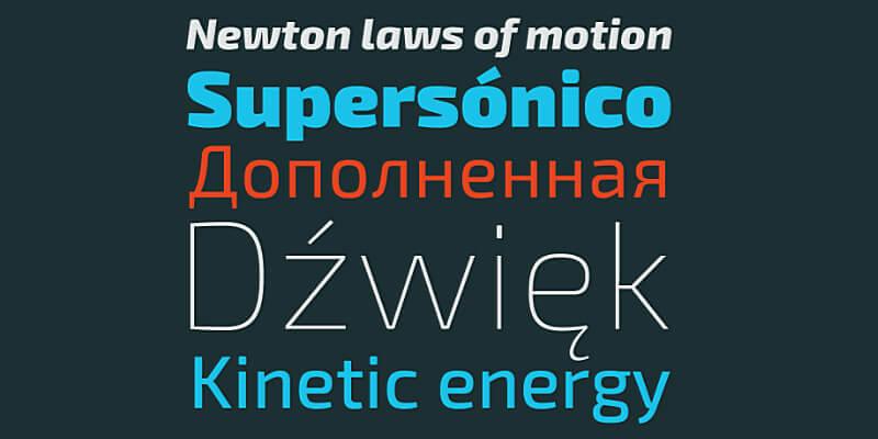 modern looking typeface
