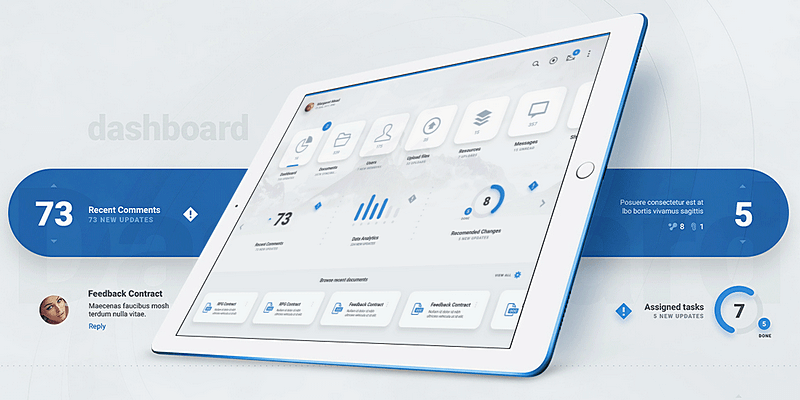 Ipad and Iphone Huge UI Kit (PSD) | Bypeople