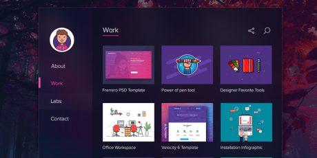 fluent design psd portfolio