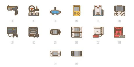 game console icons bundle