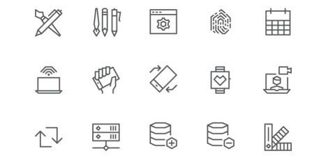 geometric ui icon set