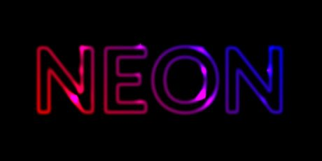 text neon effect