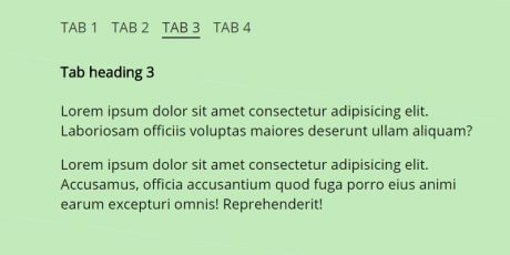 css page tabs