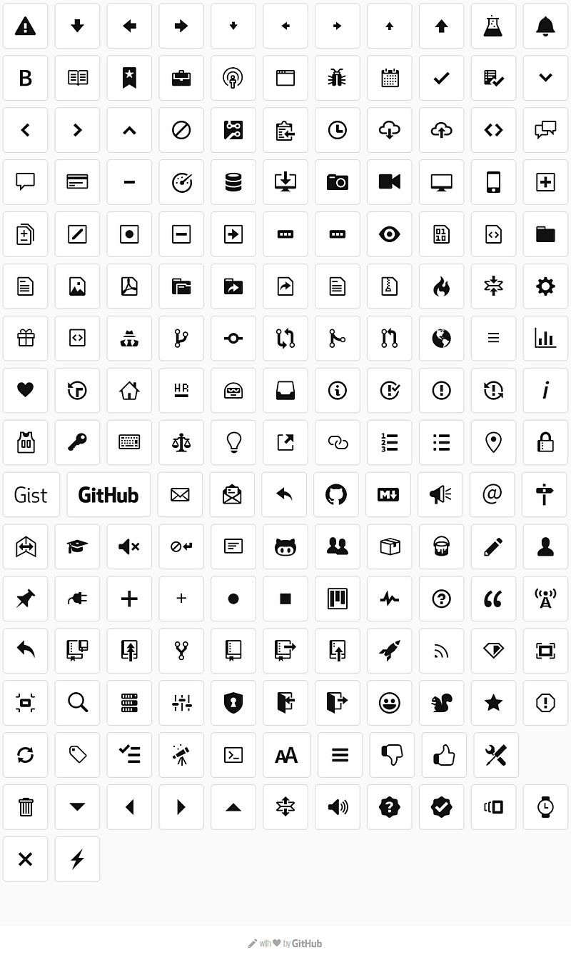 github's octicons icon pack - bypeople, Presentation templates