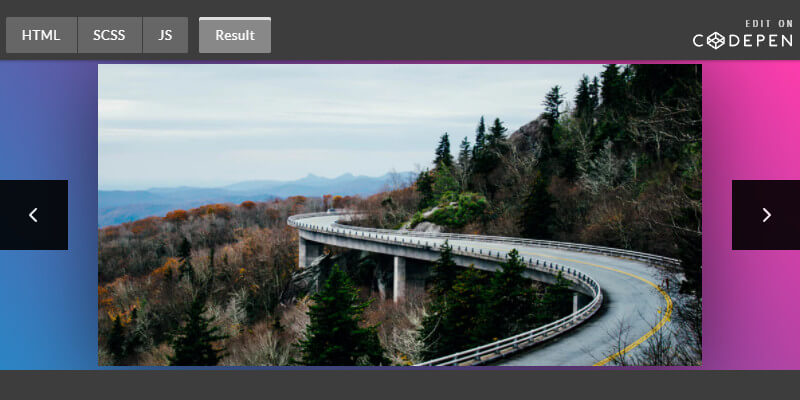 Image Slider Motion Blur Effect | Bypeople