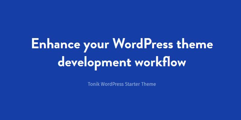 Tonik: Wordpress Starter Theme | Bypeople