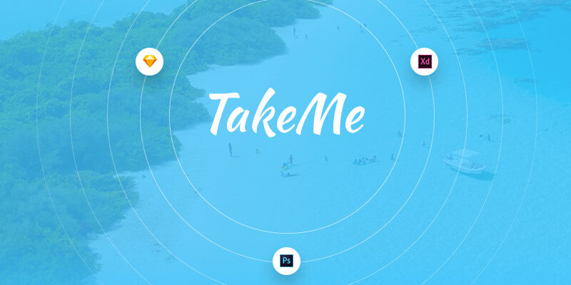 Take Me Free UI Kit (PSD – Sketch- Adobe Xd) | Bypeople