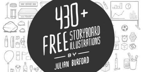 430 storyboard illustrations pack