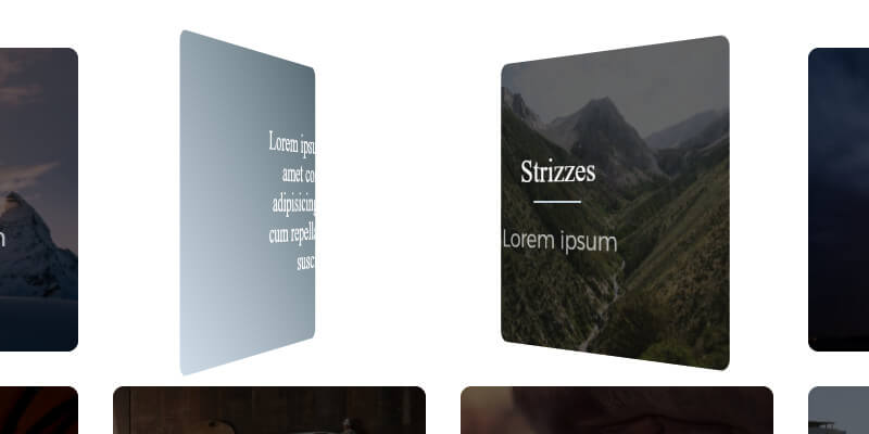 CSS Parallax Flipping Cards | Bypeople