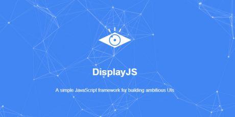 display javascript ui library