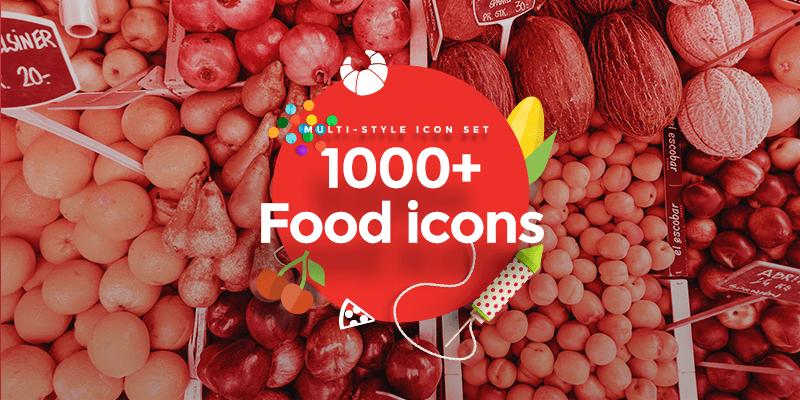 1000 Free Multi-style Food Icons, CSS Animated Menu
