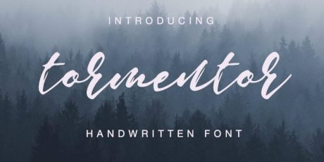 handwritten script font free