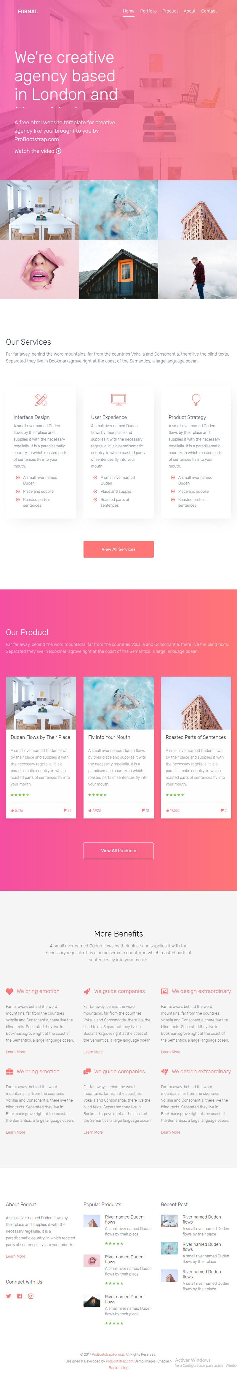 Format Free Bootstrap Website Template Bypeople