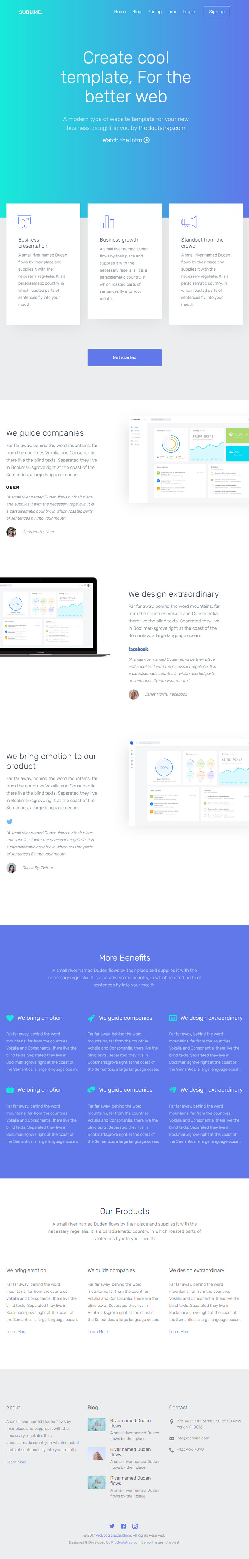 free bootstrap website templates - sublime free bootstrap website template