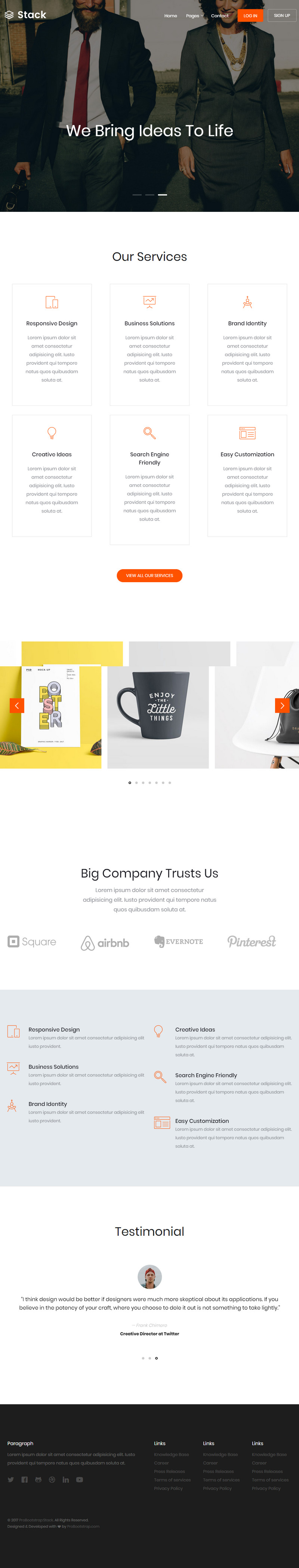 Bootstrap Portfolio Web Template Bypeople