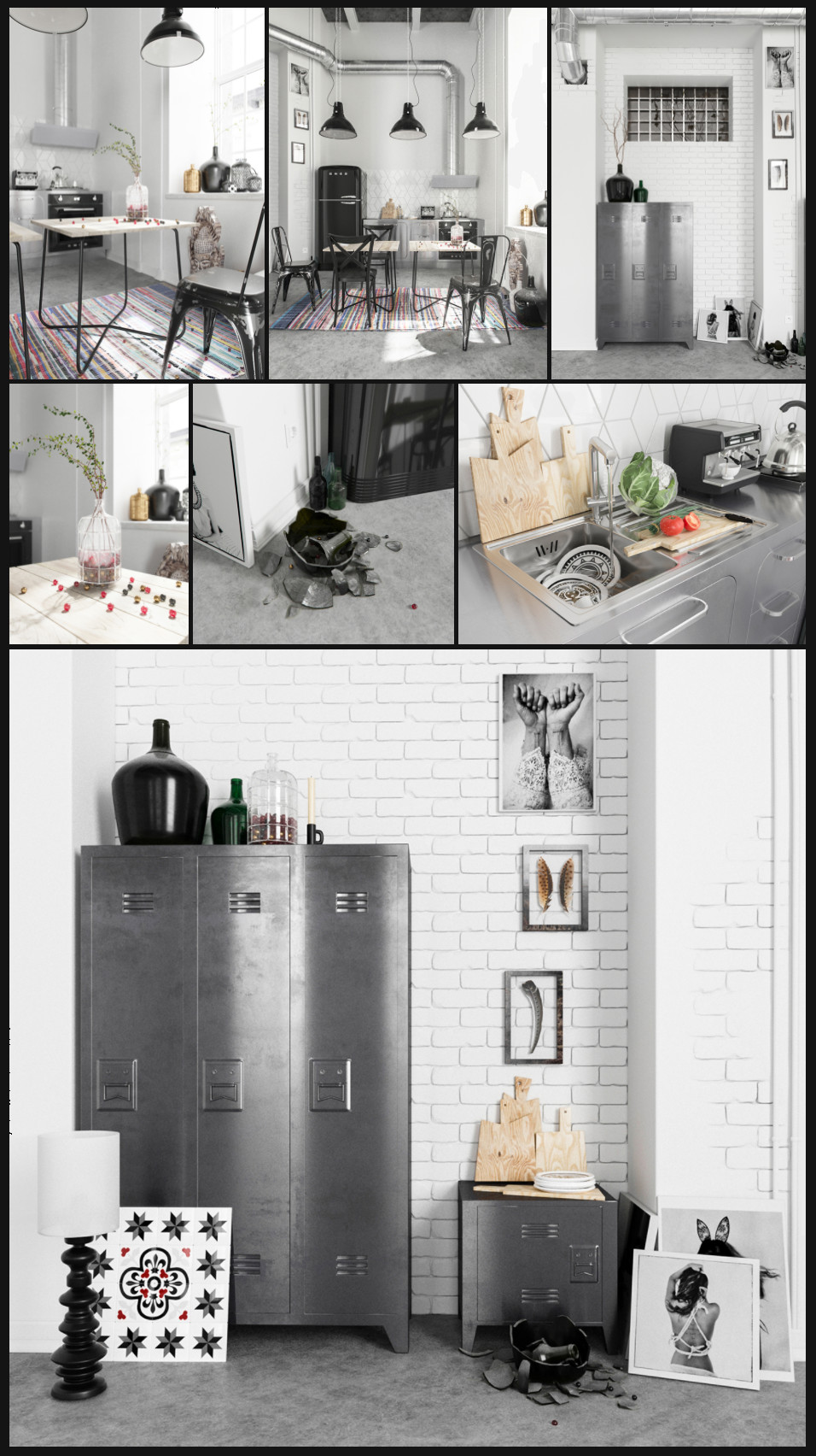 Loft Kitchen 3D Models (3DS) | Bypeople