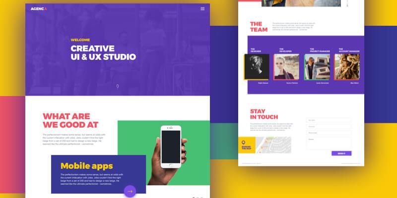 Design Studio Website Template (Sketch) | Bypeople