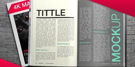 ultra realistic magazine mockups