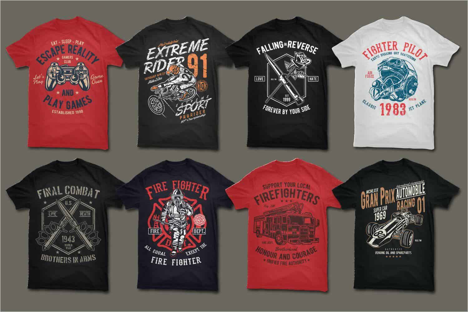 400 vector t shirt designs bundle bypeople for Cheap t shirt design websites