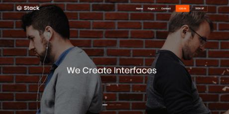 bootstrap web template portfolio