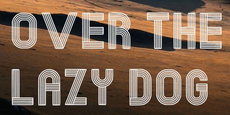 branding retro font