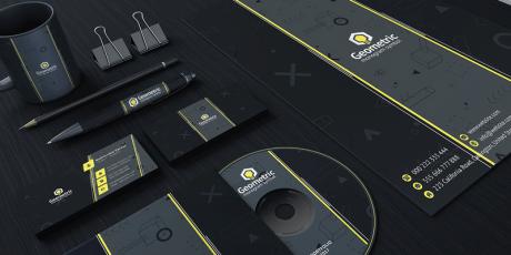 dark brand identity kit