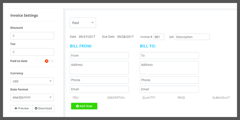 Free Unlimited Invoice Generator Bypeople - Free invoice creator