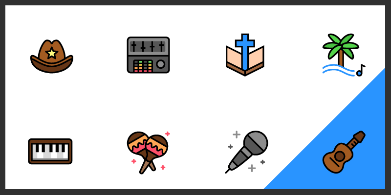 free music genre icons pack