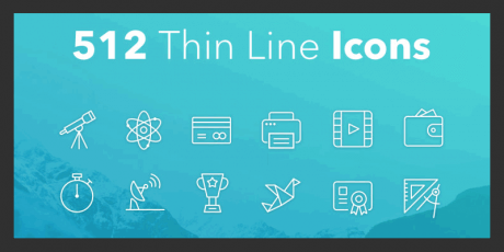 free thin line vector icons bundle