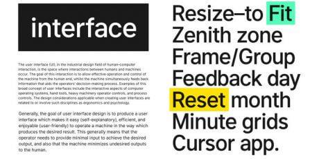 free web interface font