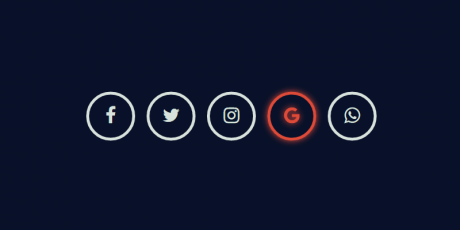 glowing social icons effect