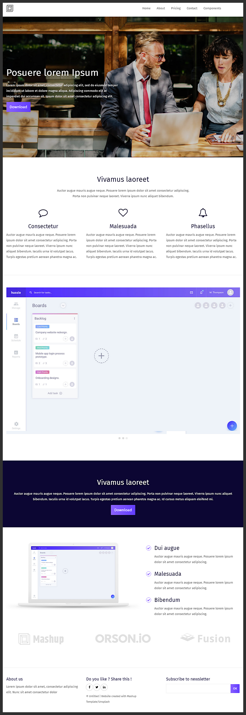 Html css business template html sketch npm bypeople designed with several panels for content laid out in a modern style image slider a sticky top bar menu and more this template was made in html5 and css3 fbccfo Choice Image