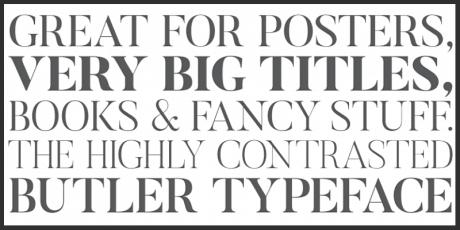 modernist serif typeface