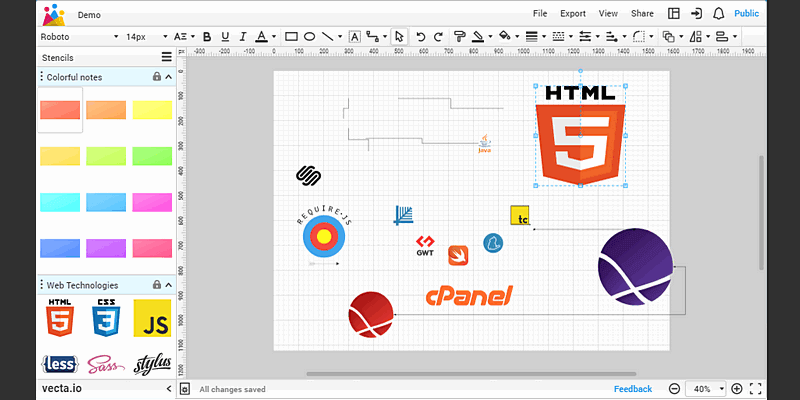 Online SVG Diagram Editor | Bypeople