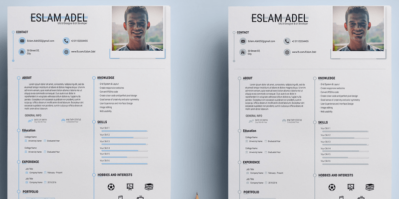 Charming Free Resume Template On Behance