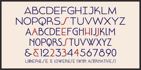free art deco font