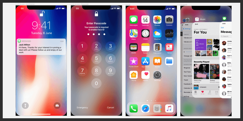 iOS 11 GUI Kit (Sketch, Figma) | Bypeople