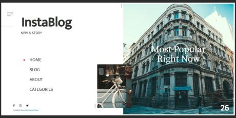 minimalistic blogging wordpress theme