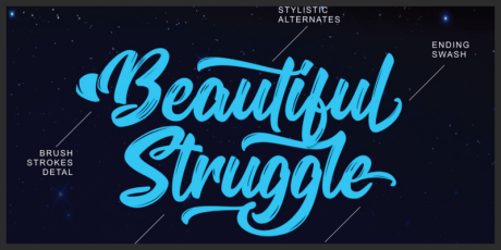 brush textured font bold