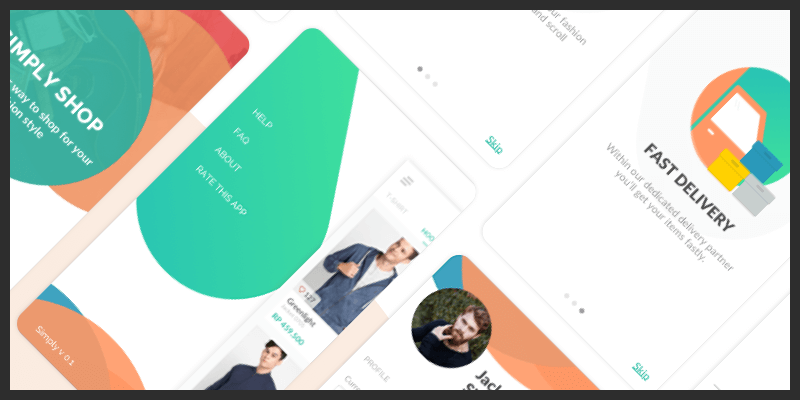 Free E-Commerce UI Kit (Sketch, XML) | Bypeople