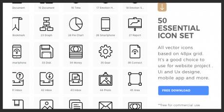 essential line icons set