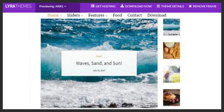 minimalistic wordpress blogging theme
