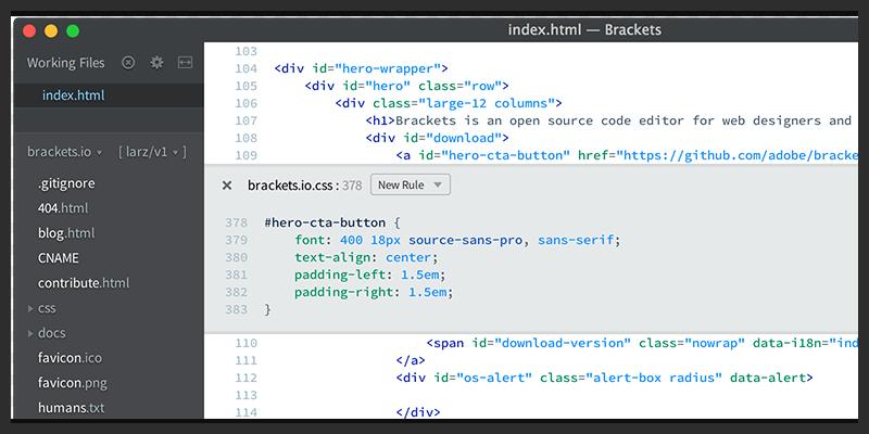 Web Design Open Source Text Editor