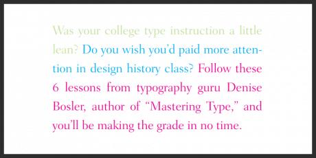 typography crash course
