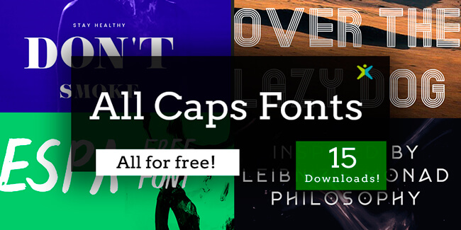 1000 Free Business Cards, All-Caps (Uppercase) Free Fonts